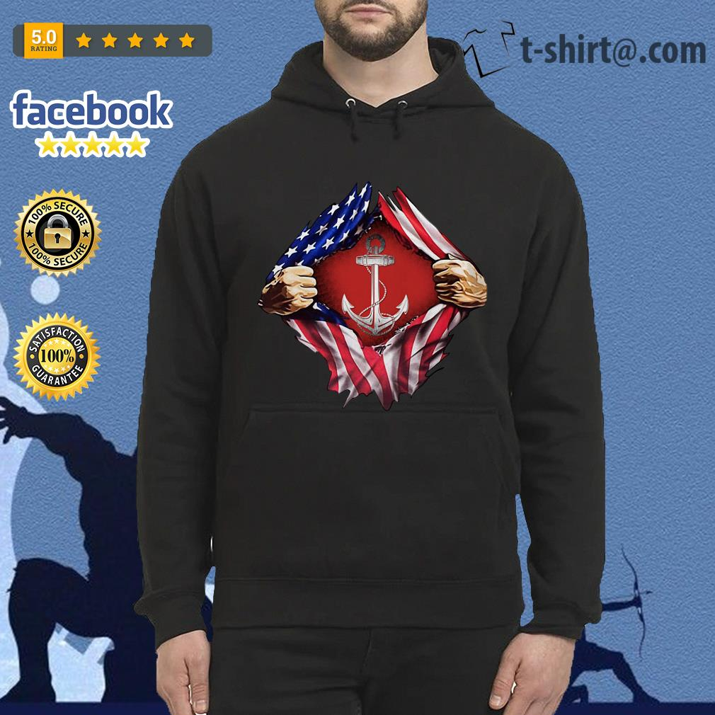 Anchor blood inside me 4th of July independence day Hoodie