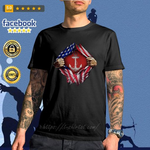 Anchor blood inside me 4th of July independence day shirt