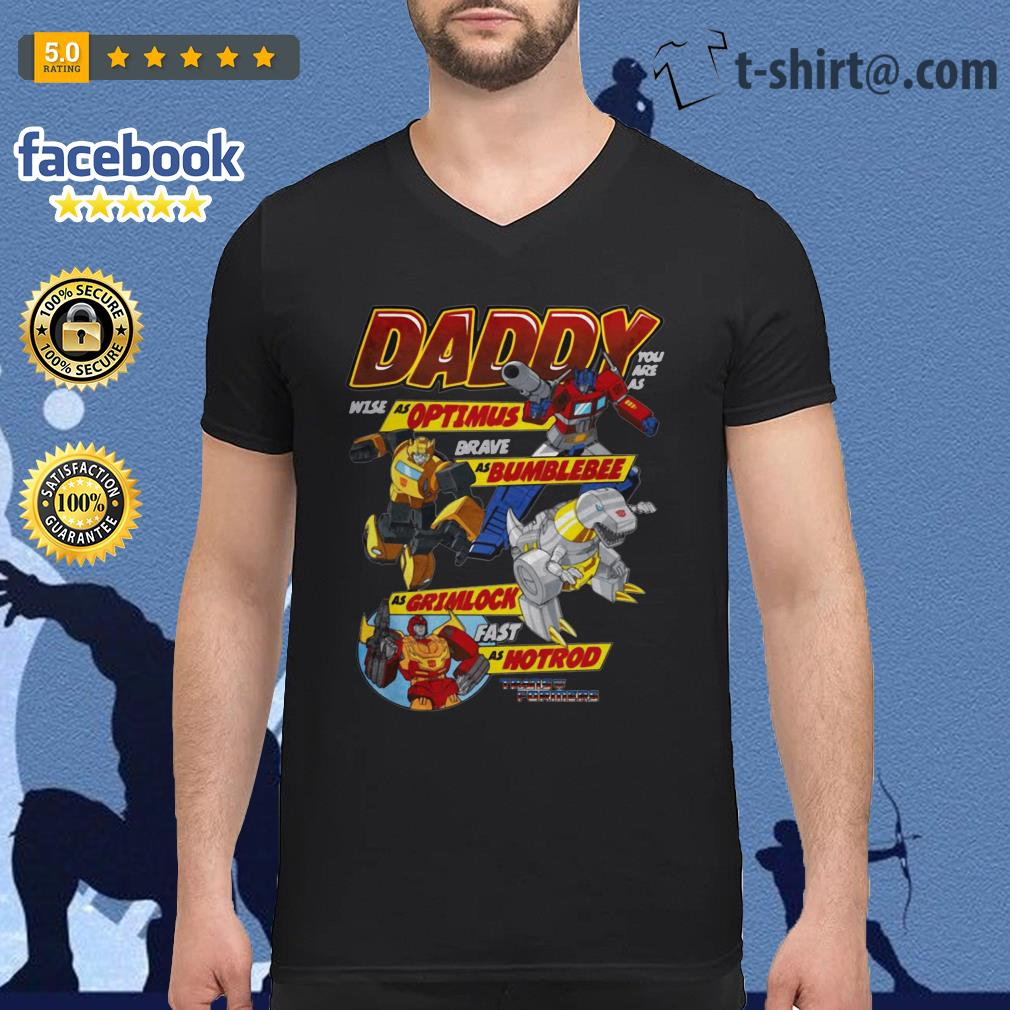 Autobots father's day transformers V-neck T-shirt