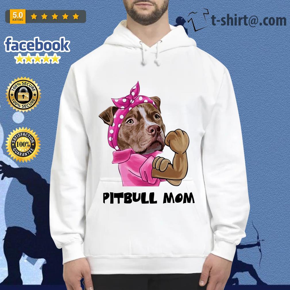 Bandana pink Pitbull mom strong mom Hoodie