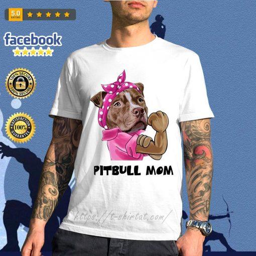 Bandana pink Pitbull mom strong mom shirt