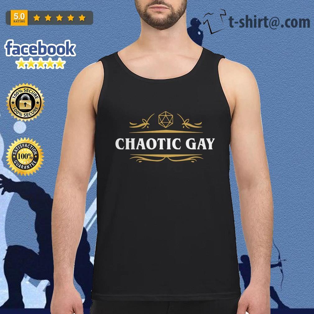 Chaotic Gay Alignment Tabletop RPG Gaming Tank top