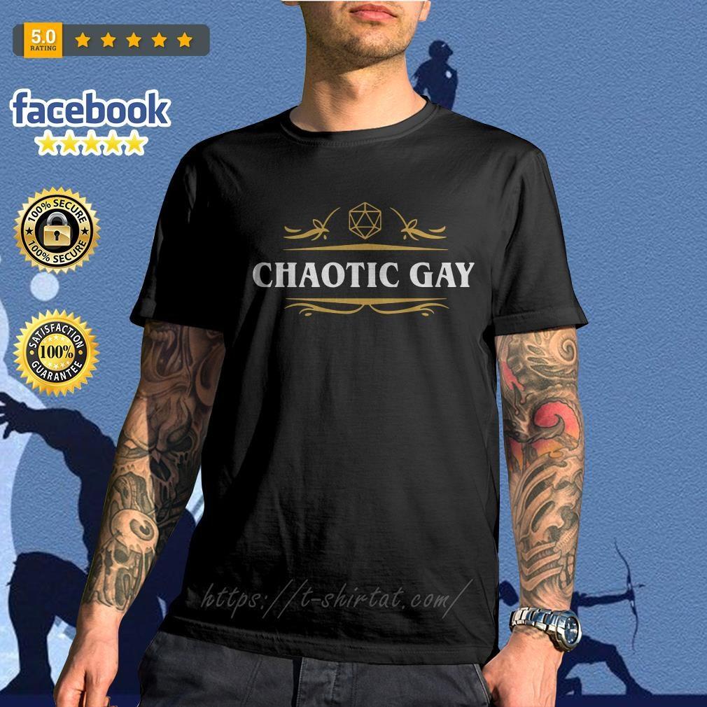 Chaotic Gay Alignment Tabletop RPG Gaming shirt