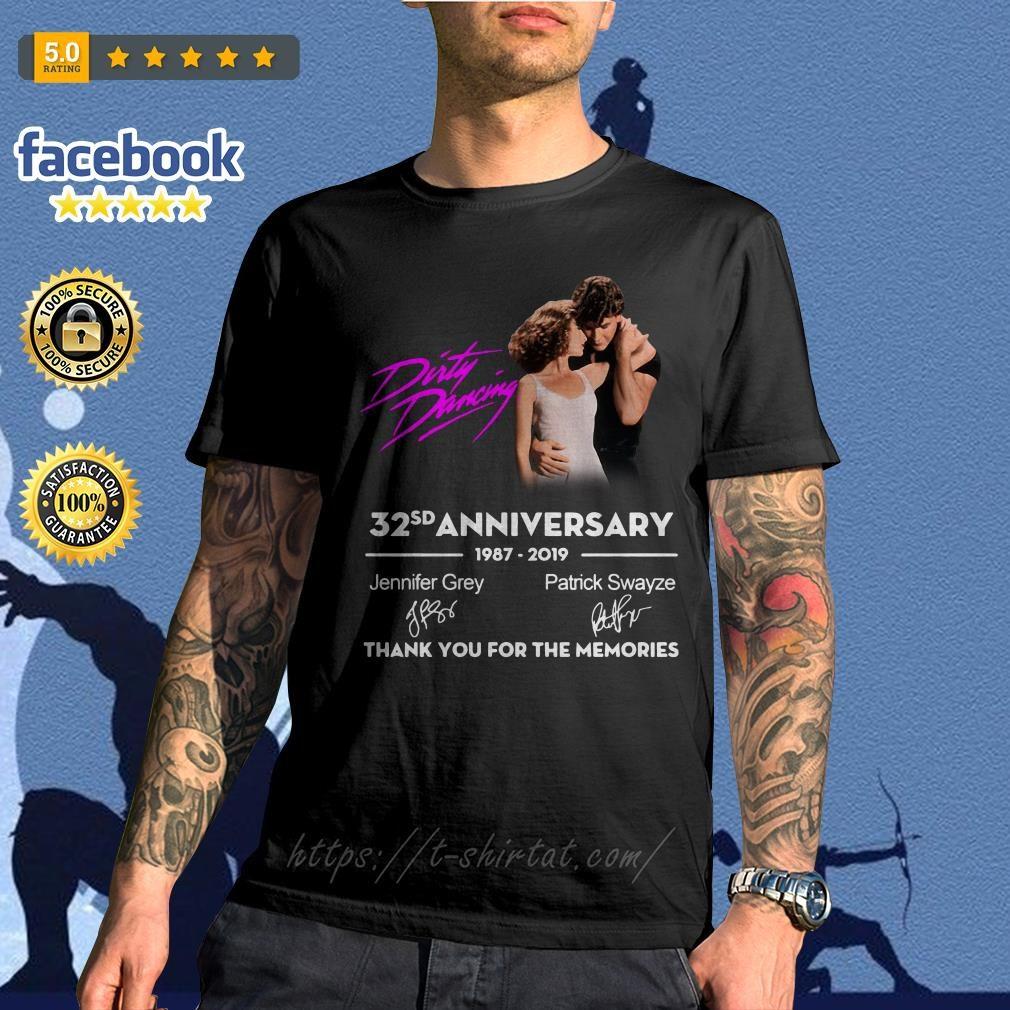 Dirty Dancing 32nd anniversary 1987-2019 signatures shirt
