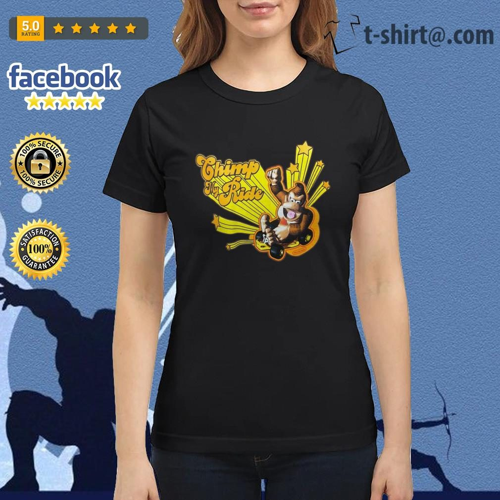 Donkey Kong Mario Kart Chimp my ride Ladies Tee