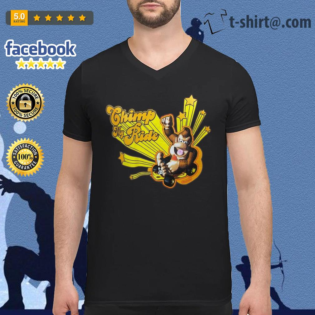 Donkey Kong Mario Kart Chimp my ride V-neck T-shirt