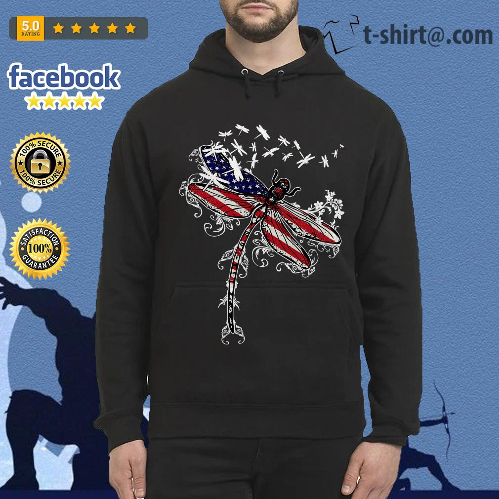Dragonfly 4th of July independence day Hoodie