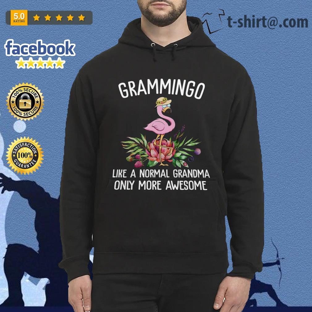 Flamingos Grammingo like a normal grandma only more awesome Hoodie