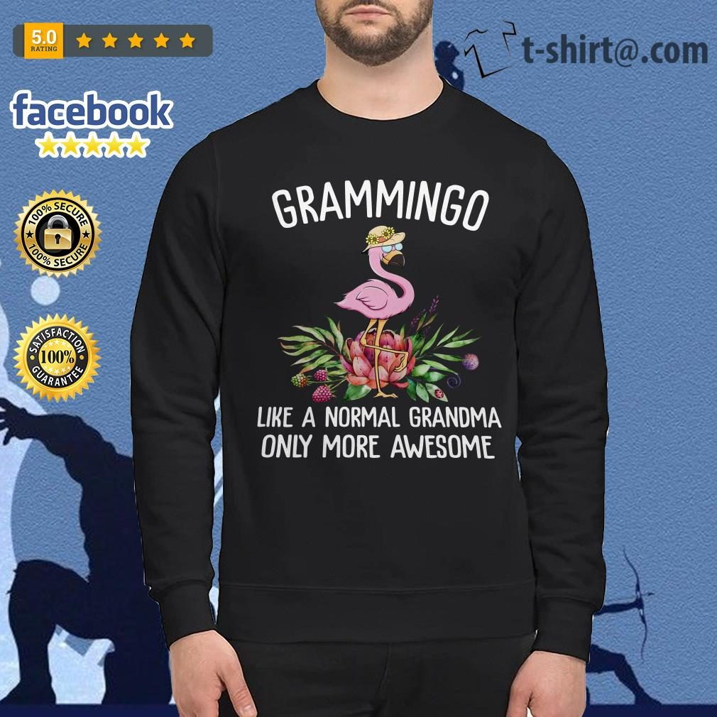 Flamingos Grammingo like a normal grandma only more awesome Sweater