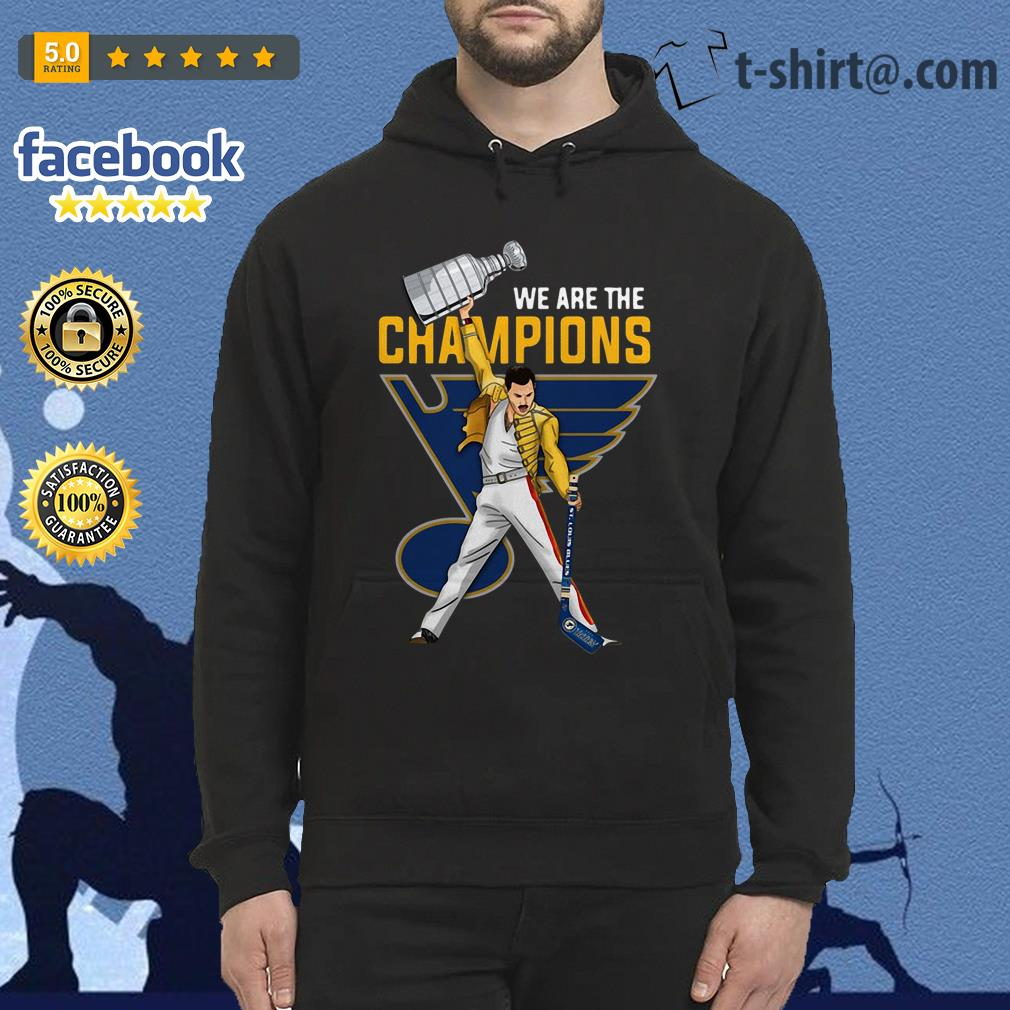 Freddie Mercury St. Louis Blues we are champions Hoodie