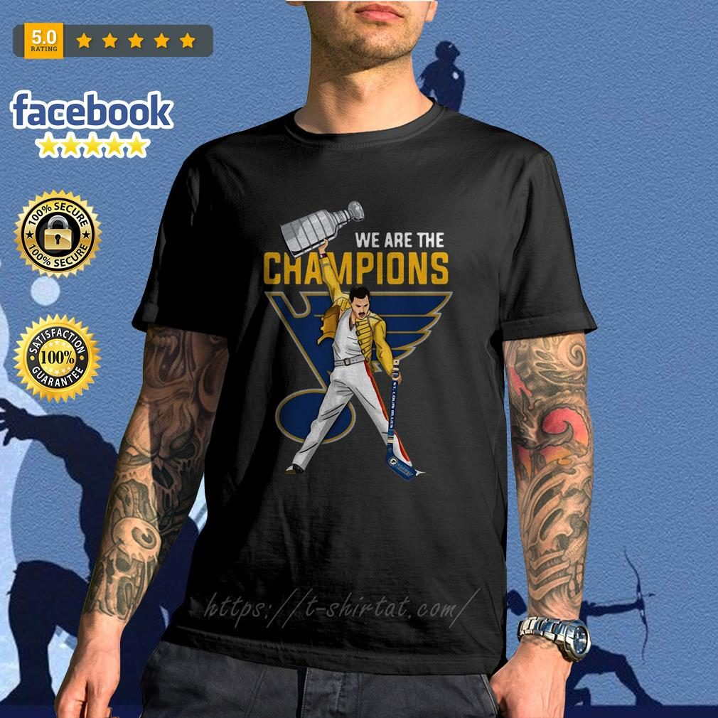 13aaf0882e73 Freddie Mercury St. Louis Blues we are champions shirt, sweater