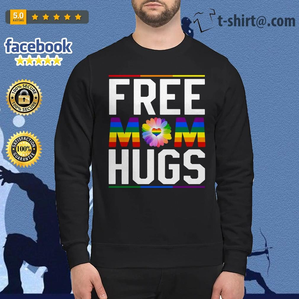 Free mom hugs pride LGBT Sweater