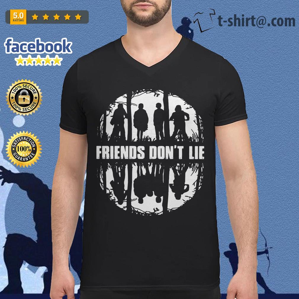 Friends don't lie Eleven Stranger Things V-neck T-shirt