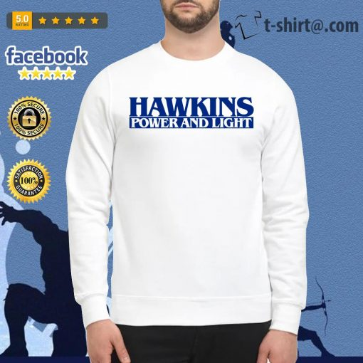 Hawkins power and light stranger things Sweater