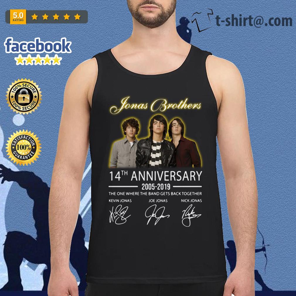 Jonas Brothers 14th anniversary 2005-2019 signature Tank top