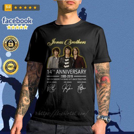 Jonas Brothers 14th anniversary 2005-2019 signature shirt