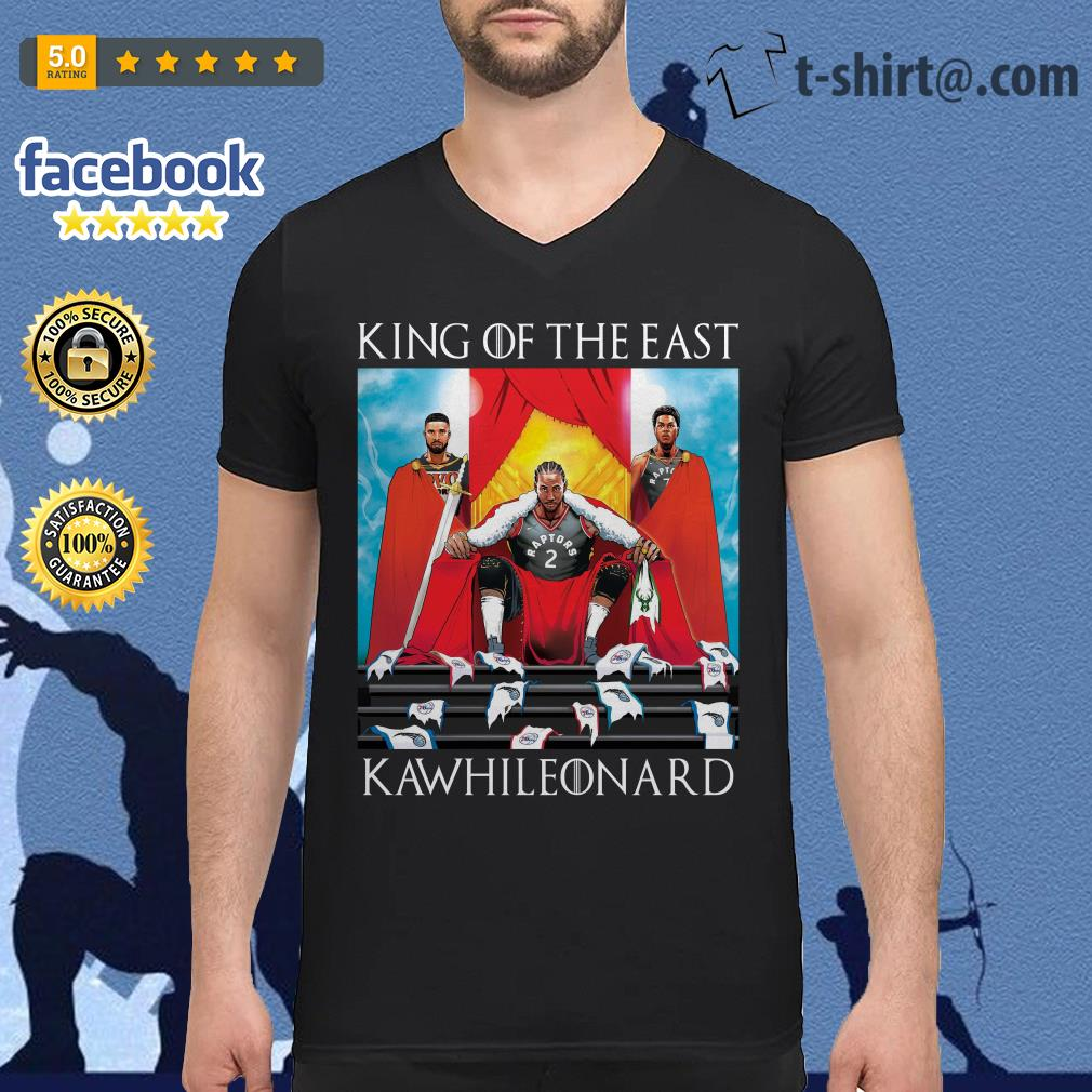 King Of the east Toronto Raptors Kawhi Leonard Guys V-neck