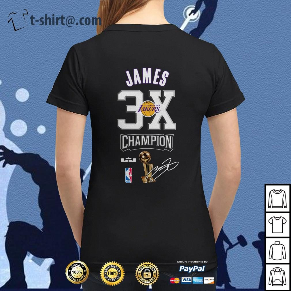 f15dc702c1ad Lebron James NBA Los Angeles Lakers 23 Champion 3X shirt · Lebron ...