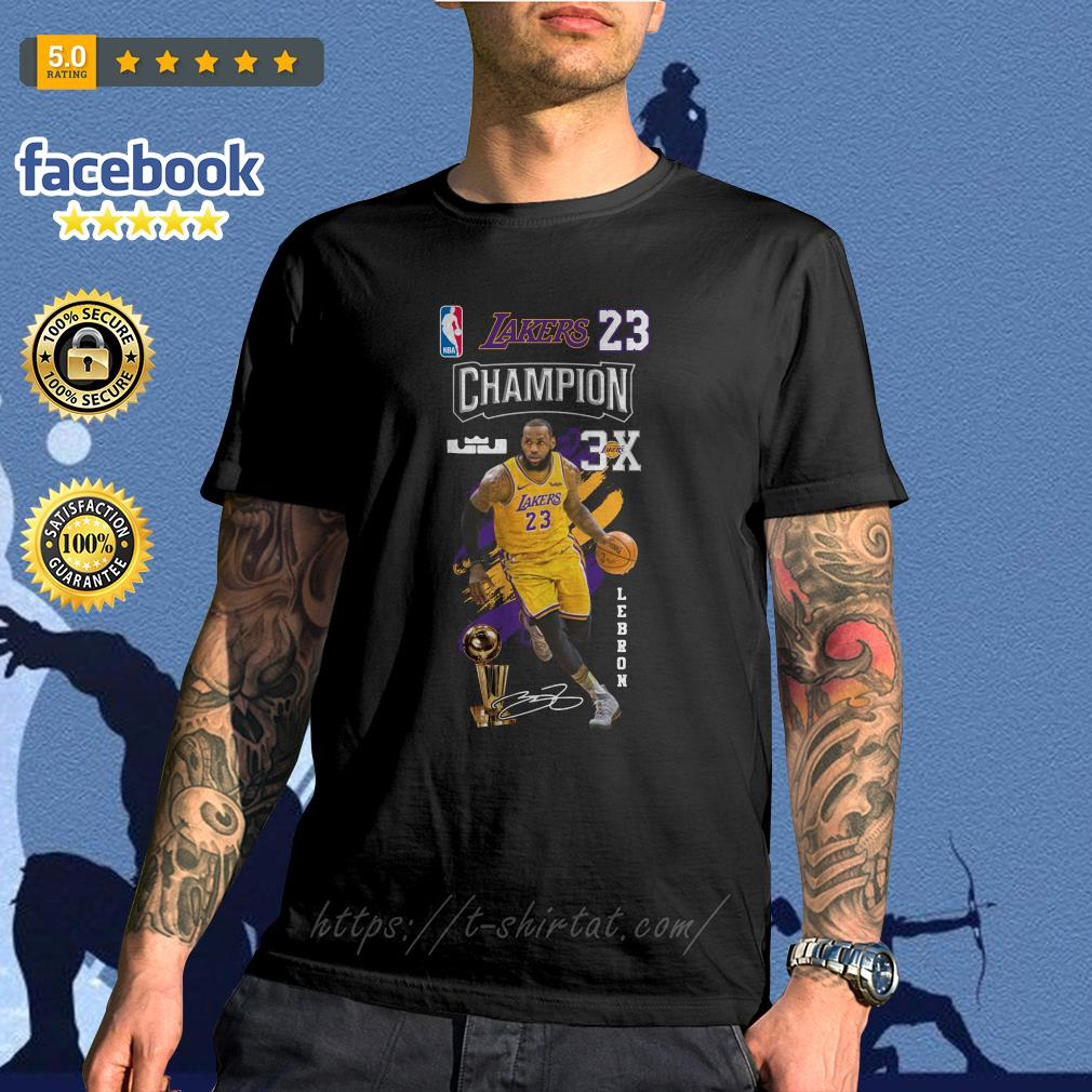 54e7a294840b Lebron James NBA Los Angeles Lakers 23 Champion 3X shirt, sweater