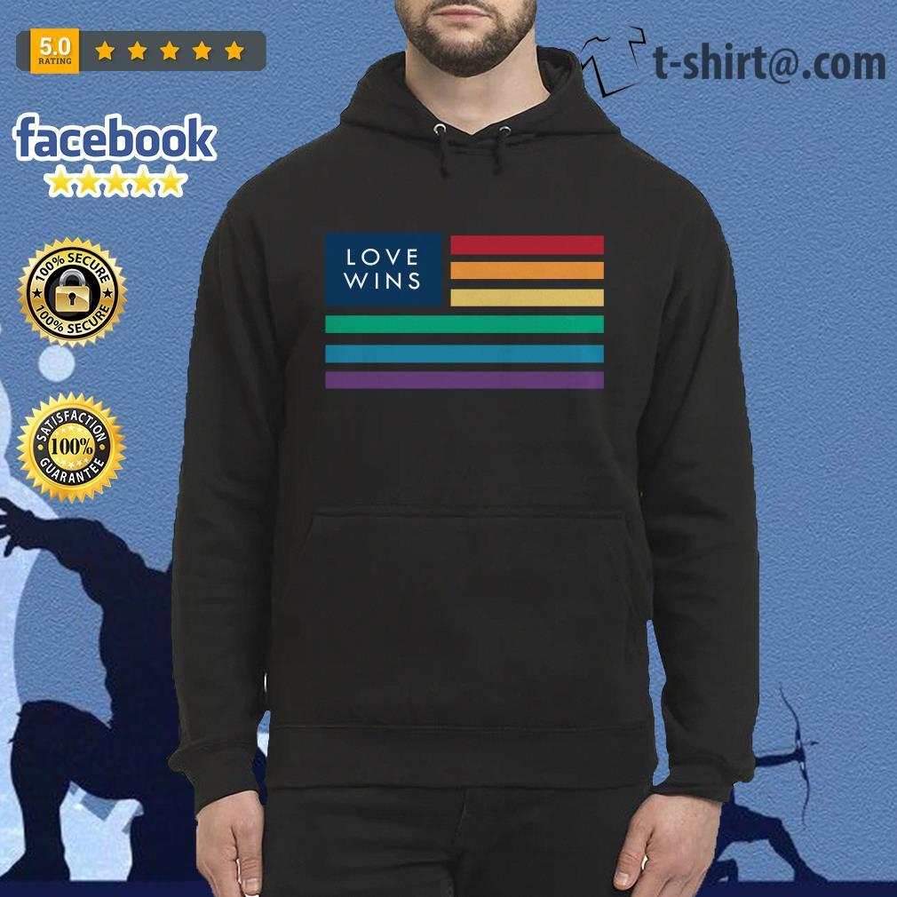 LGBT flag love wins Hoodie