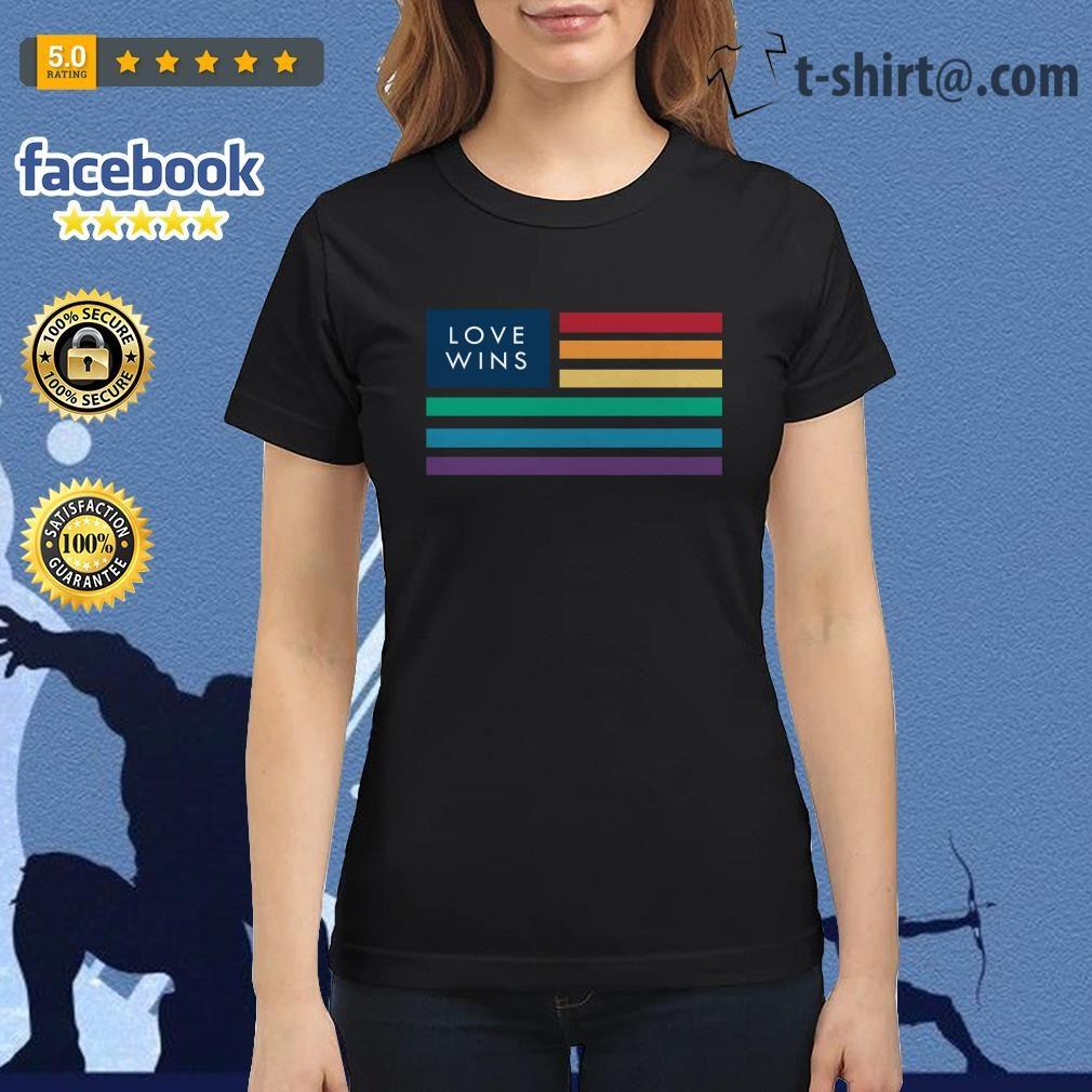 LGBT flag love wins Ladies Tee