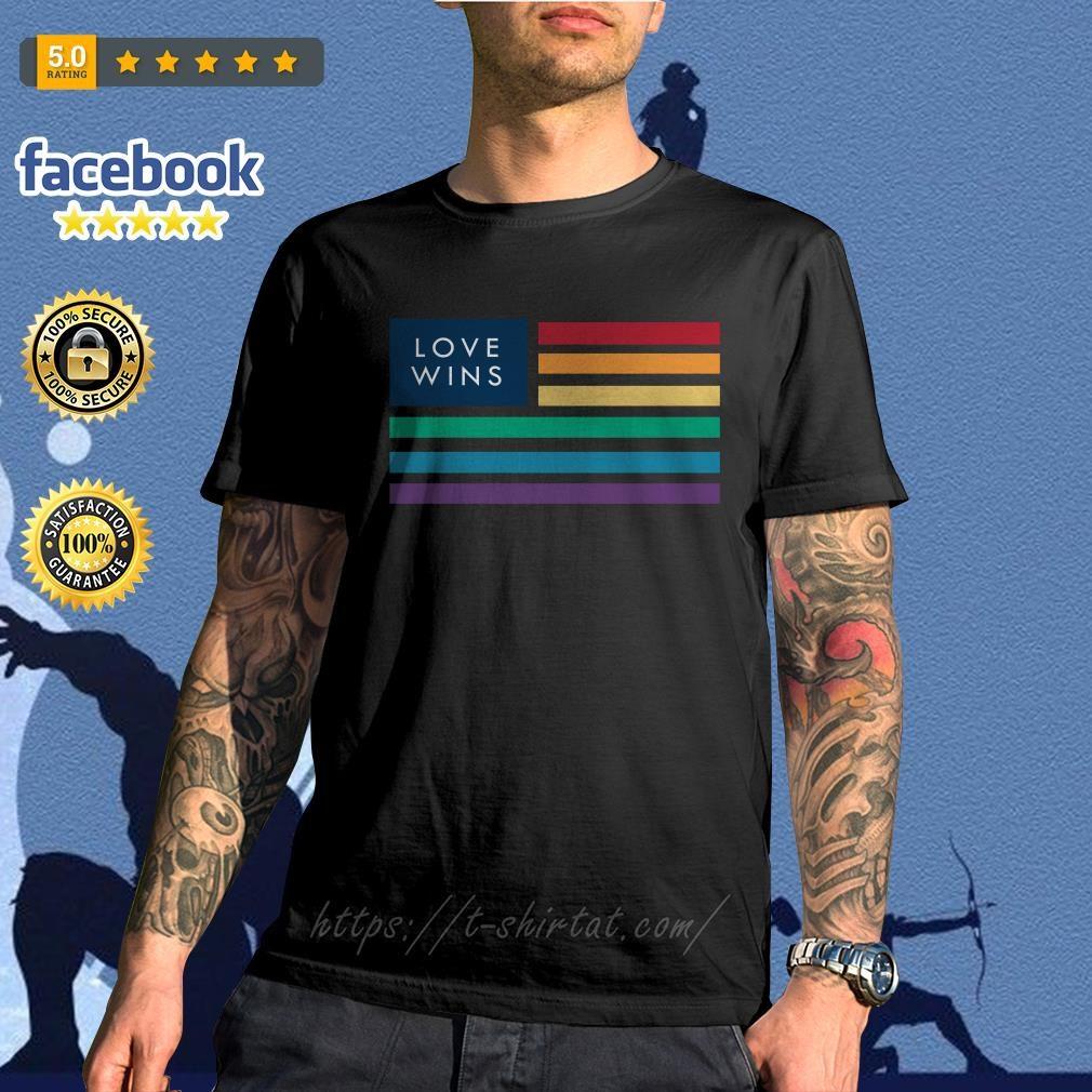 LGBT flag love wins shirt