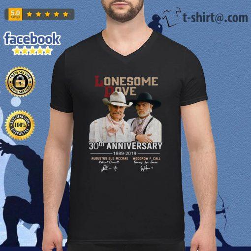 Lonesome Dove 30th Anniversary Signature 1989-2019 signature V-neck t-shirt
