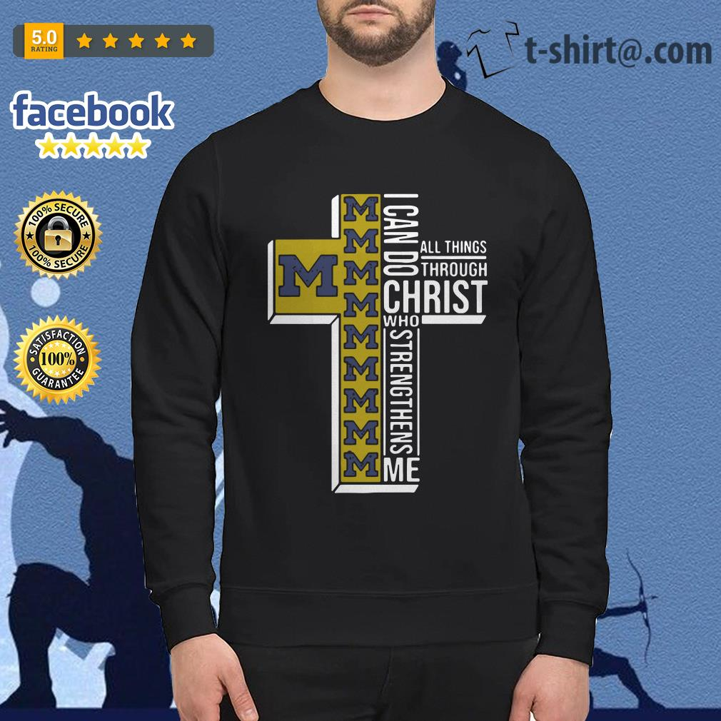 Michigan Wolverines I can do all things through Christ who strengthens me Sweater