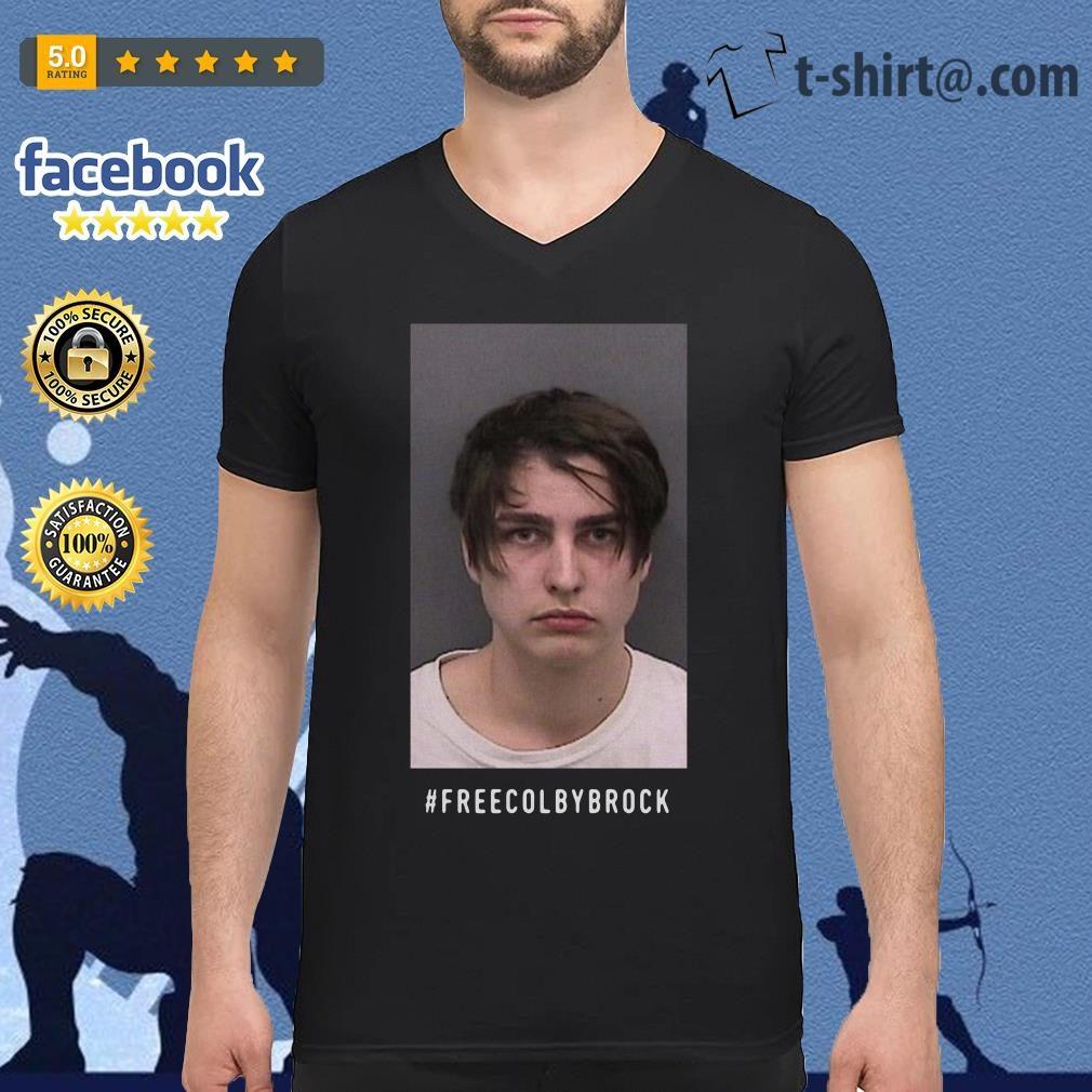Official #Freecolbybrock V-neck T-shirt