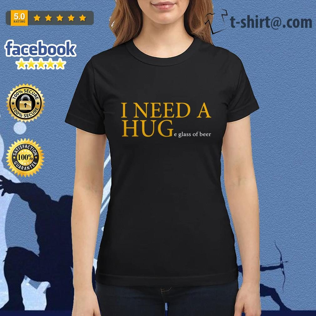 Official I need a huge glass of beer Ladies Tee