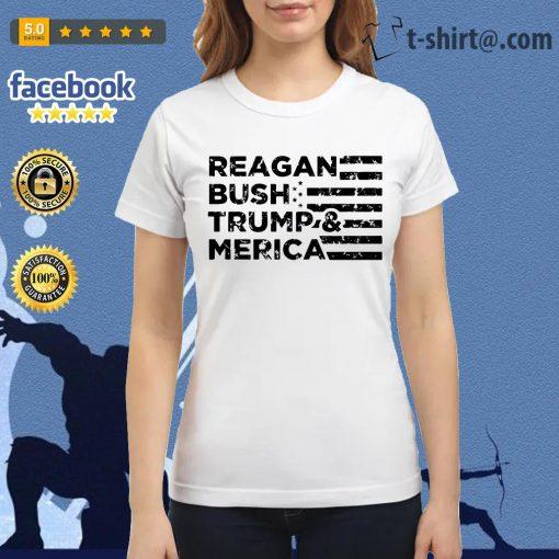 Reagan Bush Trump and Merica Veteran Ladies Tee