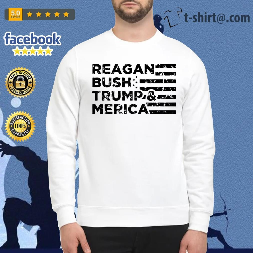 Reagan Bush Trump and Merica Veteran Sweater