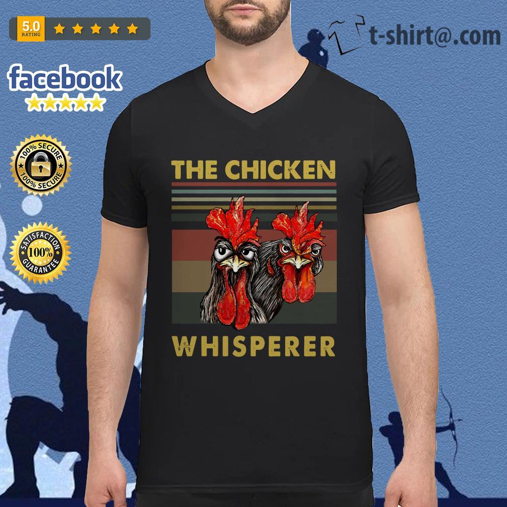 Rooster chicken the chicken whisperer V-neck T-shirt