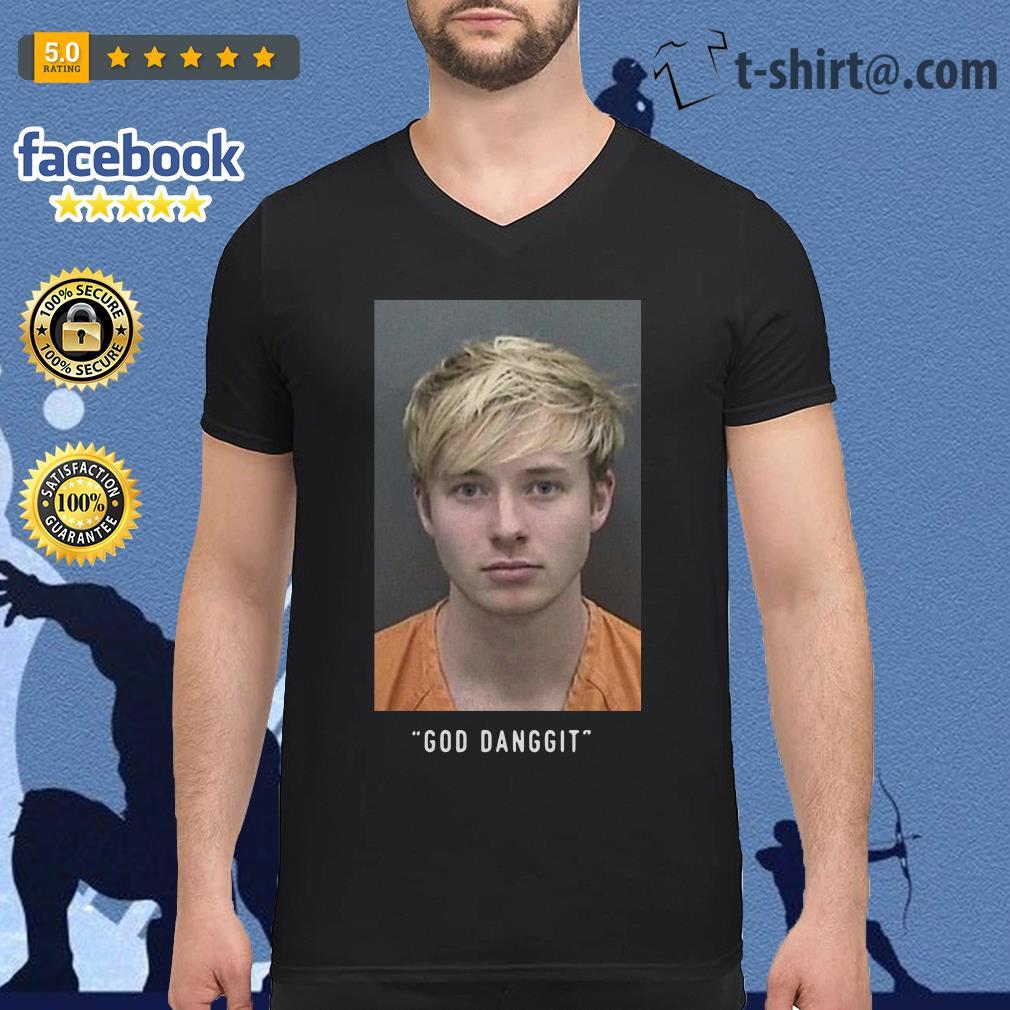 Sam Golbach God danggit V-neck T-shirt