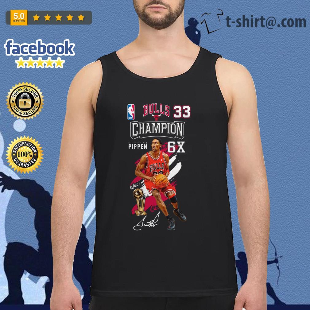 Scottie Pippen NBA bulls 33 Champion 6X Tank top