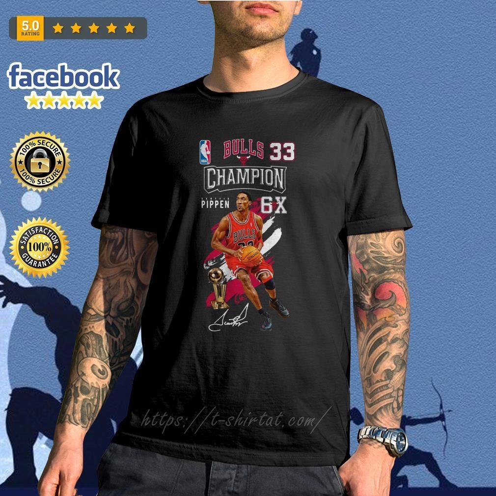Scottie Pippen NBA bulls 33 Champion 6X shirt