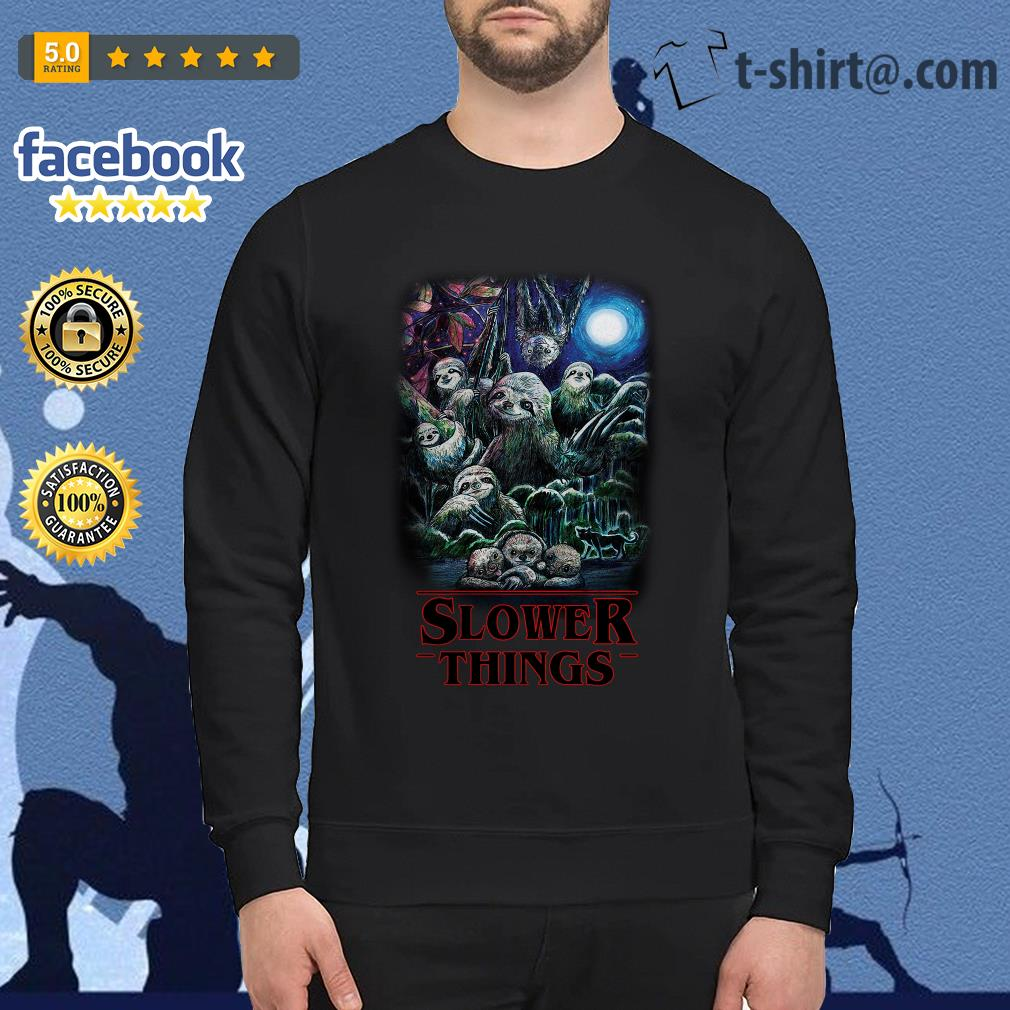 Sloth Slower Things Stranger Things Season 3 Sweater