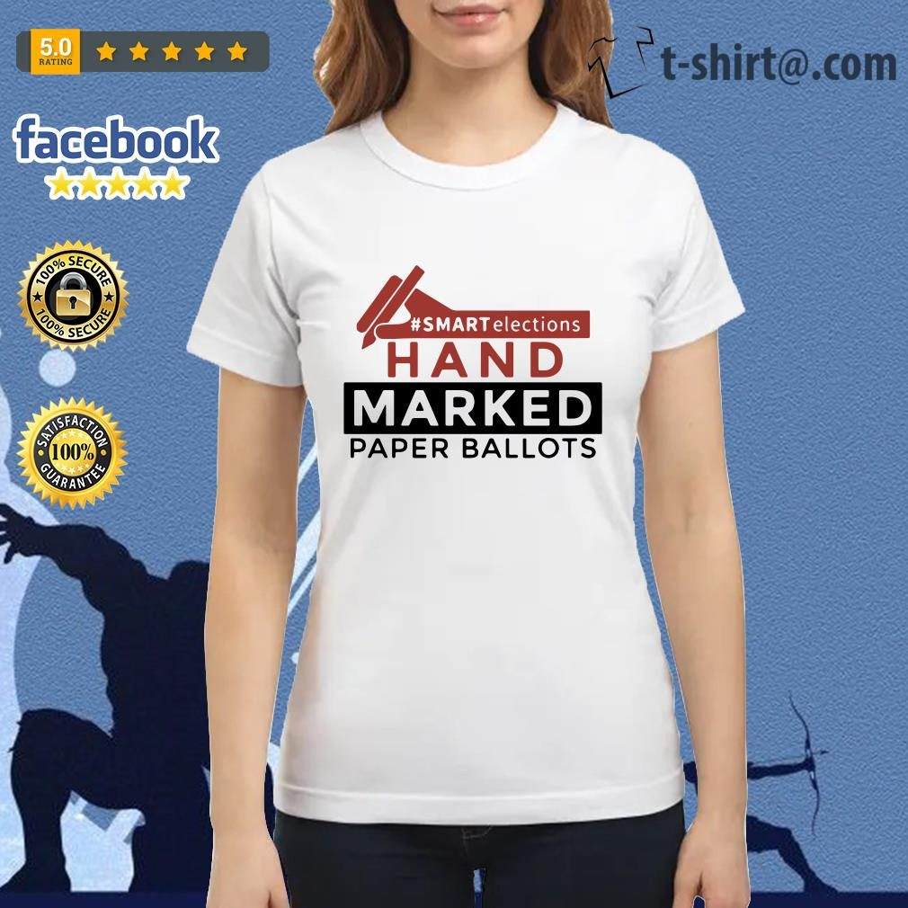 Smart elections hand marked paper ballots Ladies Tee