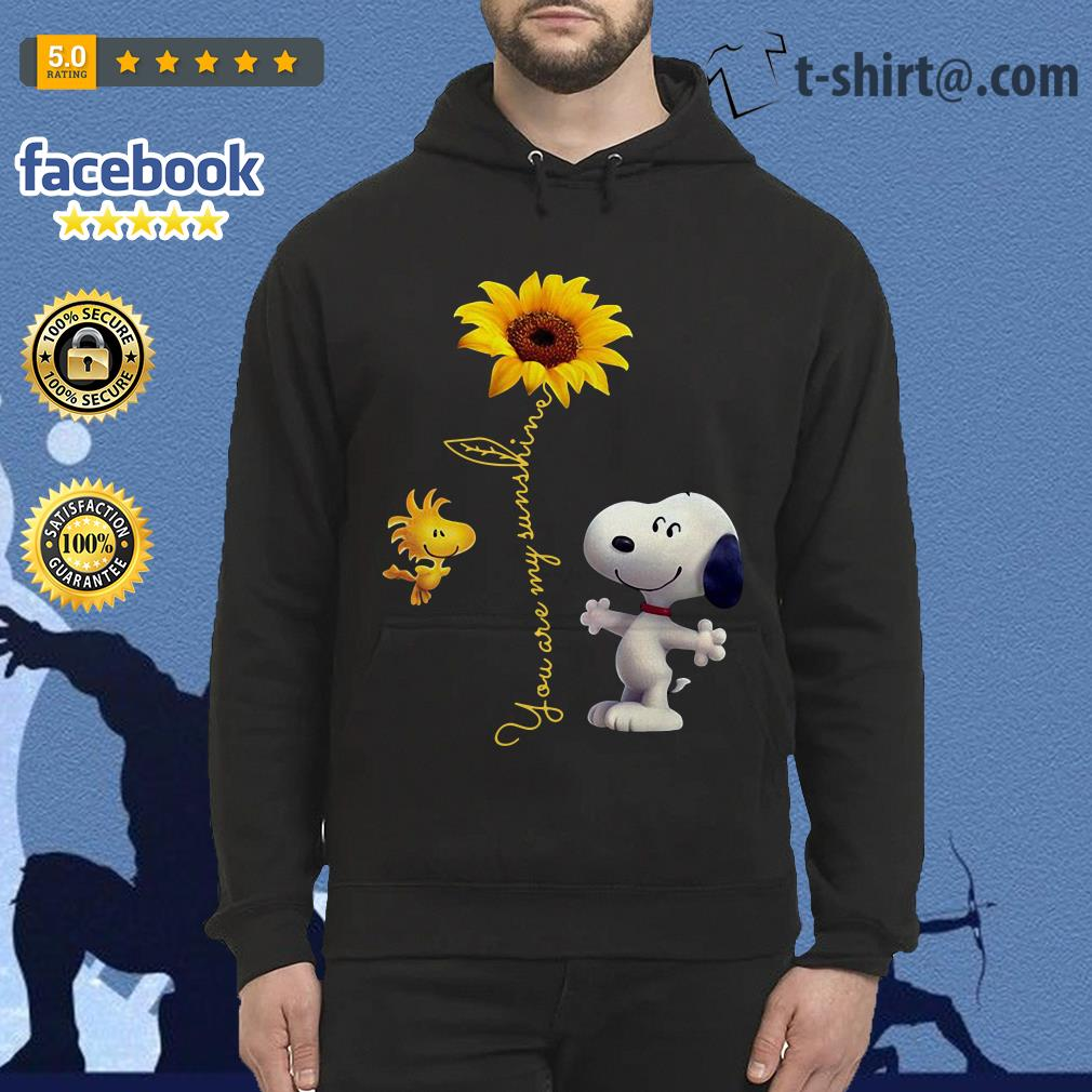 Snoopy and Woodstock sunflower you are my sunshine Hoodie