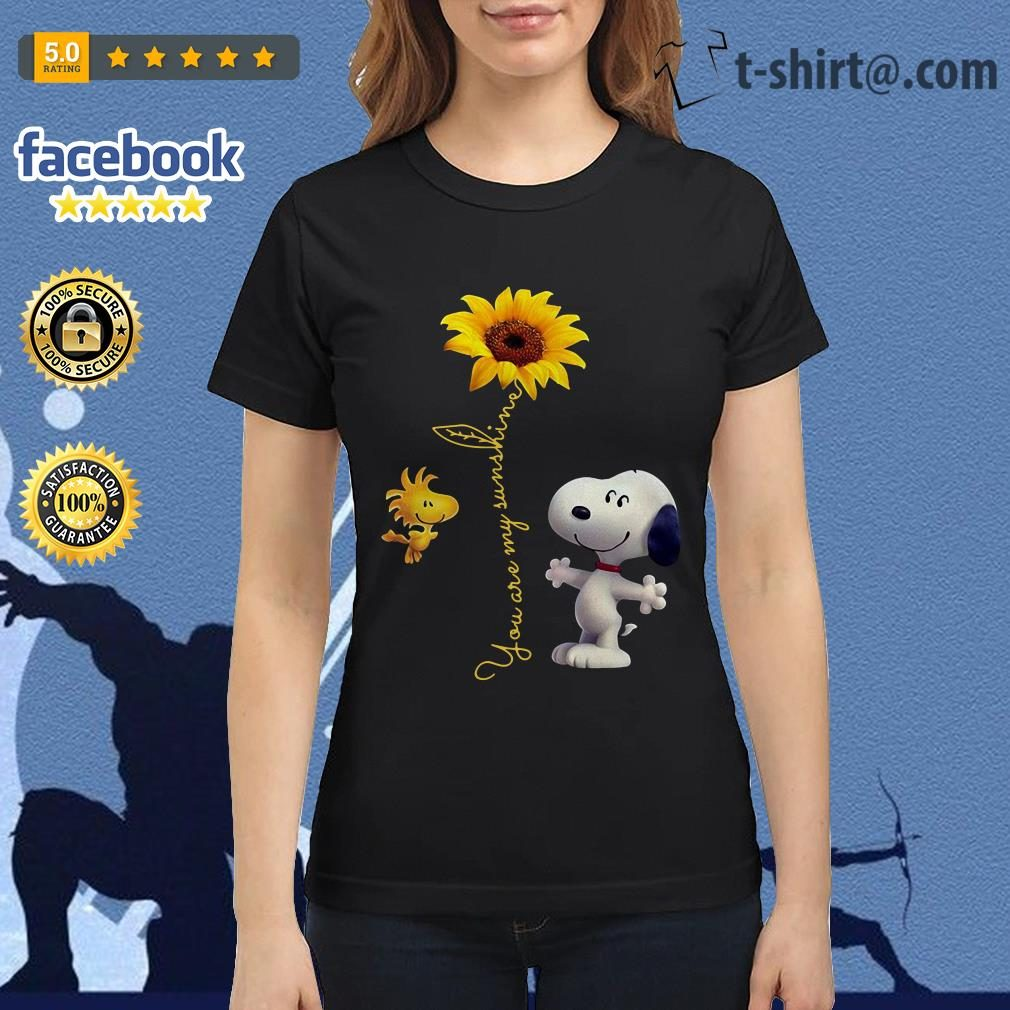 Snoopy and Woodstock sunflower you are my sunshine Ladies Tee