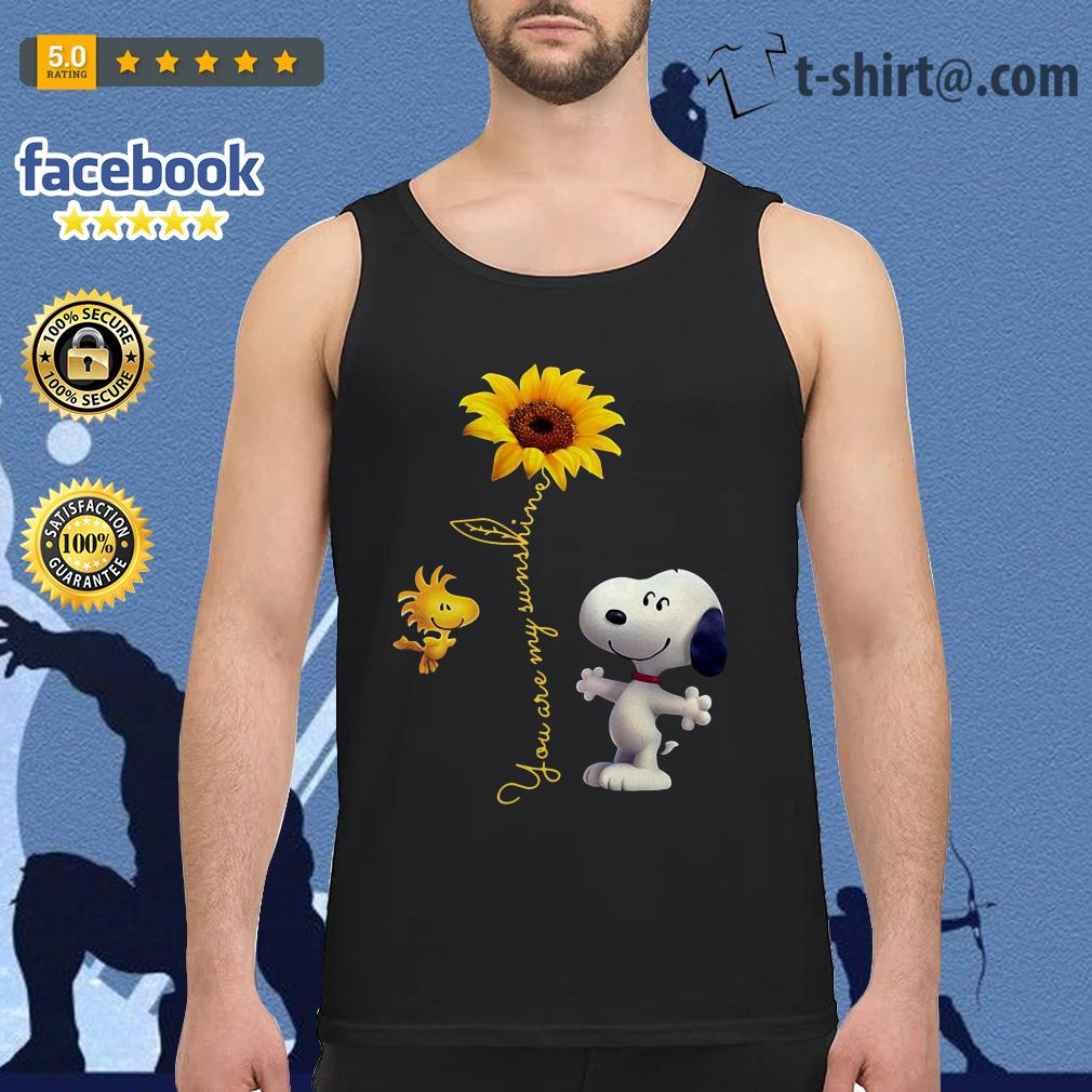 Snoopy and Woodstock sunflower you are my sunshine Tank top