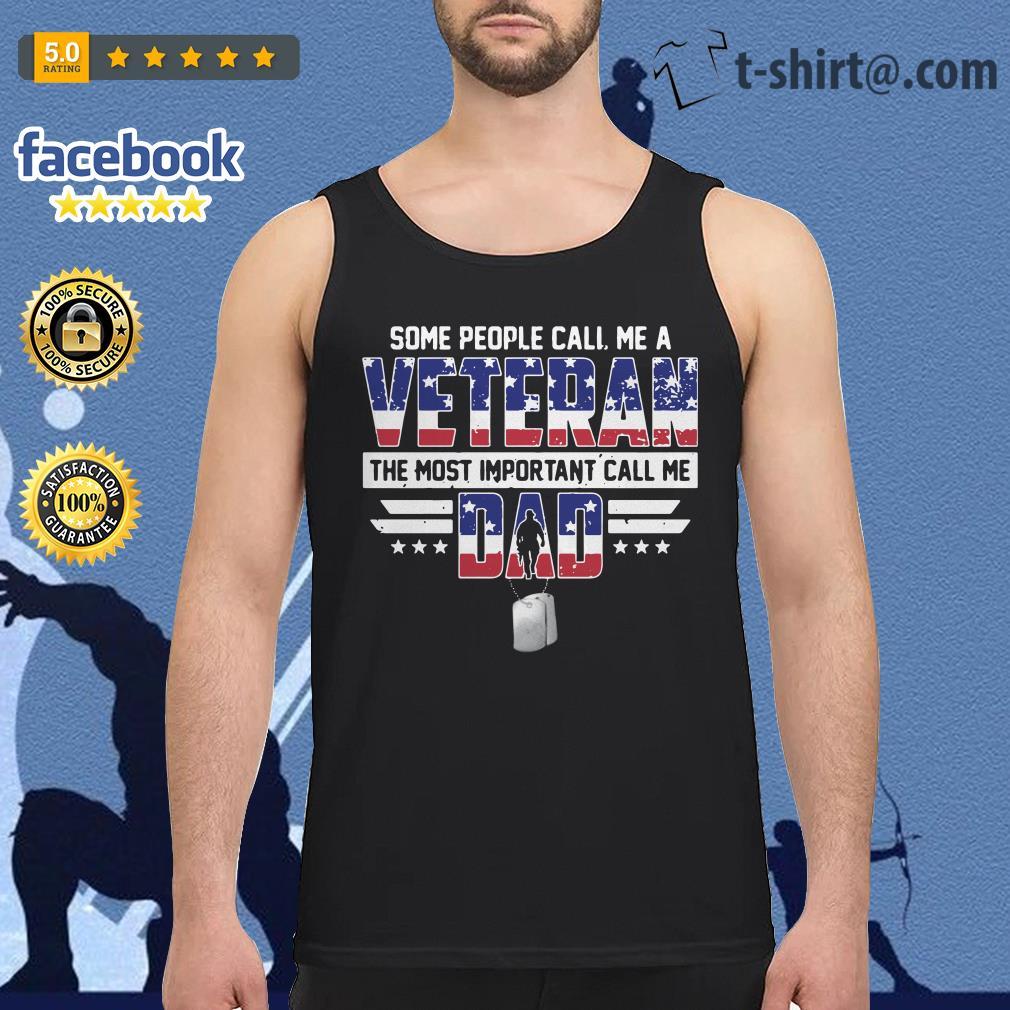 Call Me A Veteran A Dad Mens Short Sleeve New Cotton Black T-shirt