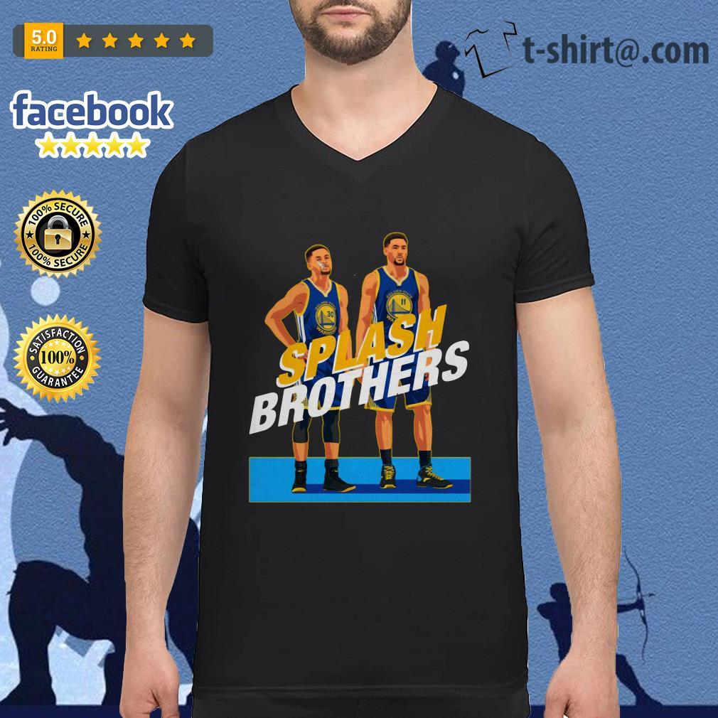Splash Brothers Stephen Curry Klay Thompson V-neck t-shirt