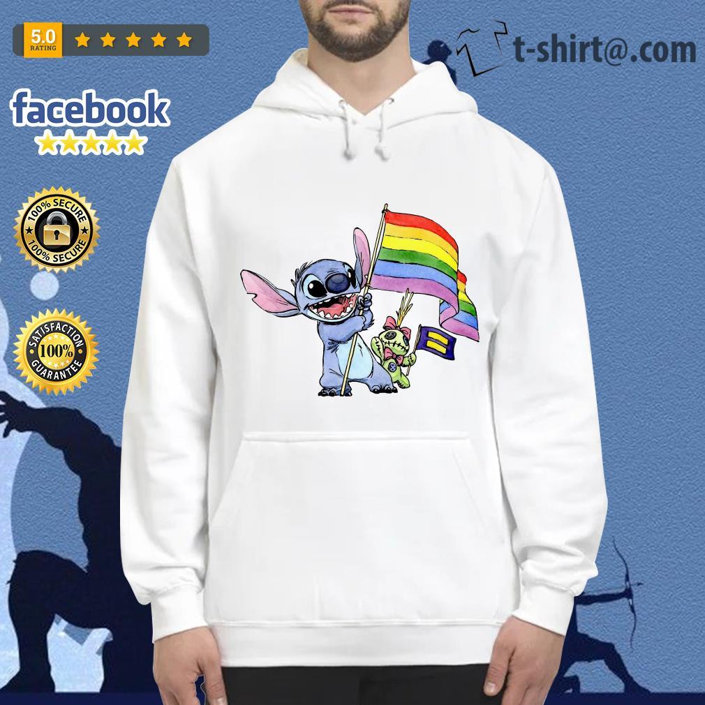 Stitch LGBT Pride flag Hoodie