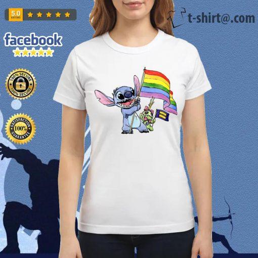 Stitch LGBT Pride flag Ladies Tee