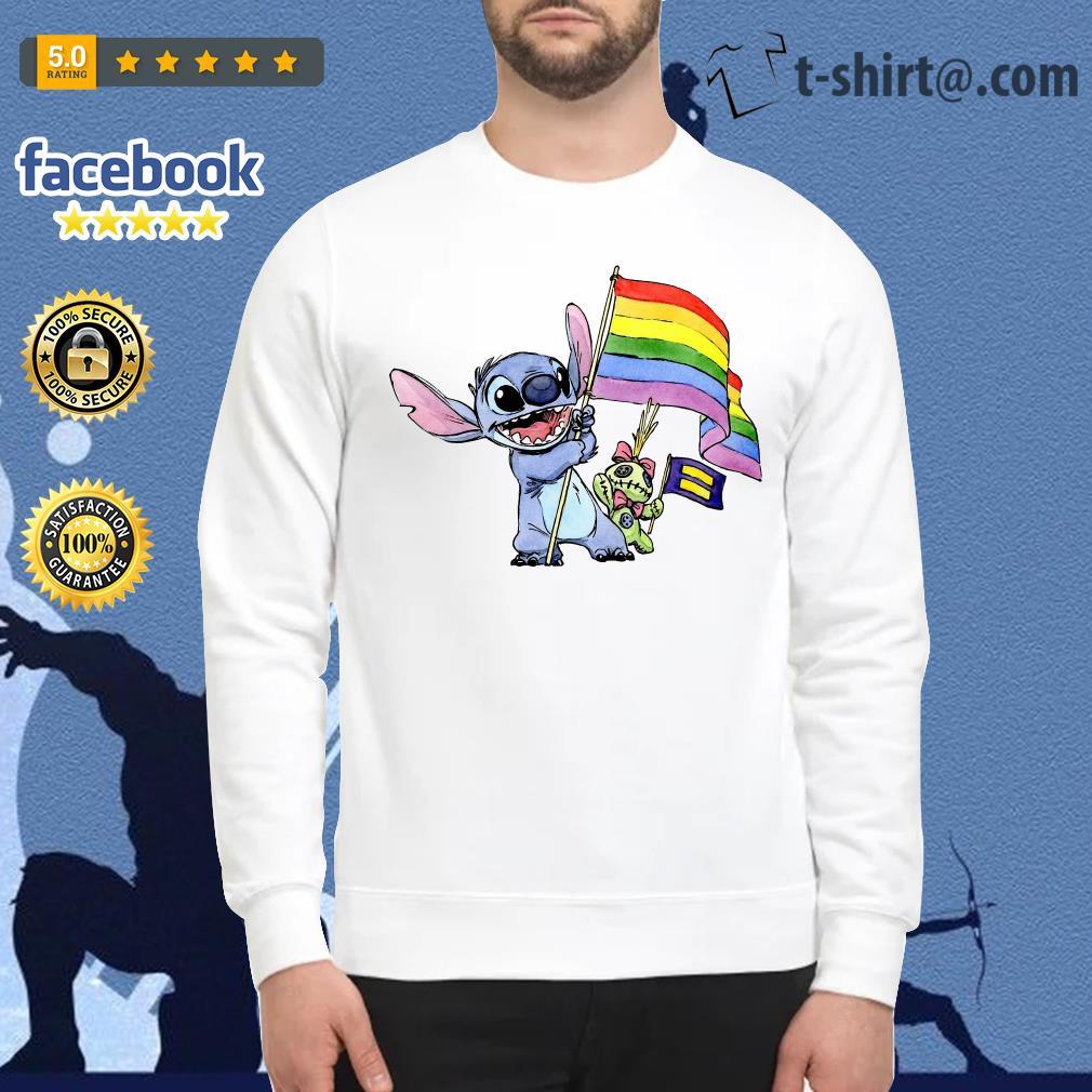 Stitch LGBT Pride flag Sweater