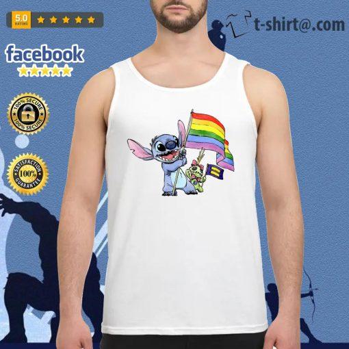 Stitch LGBT Pride flag Tank top