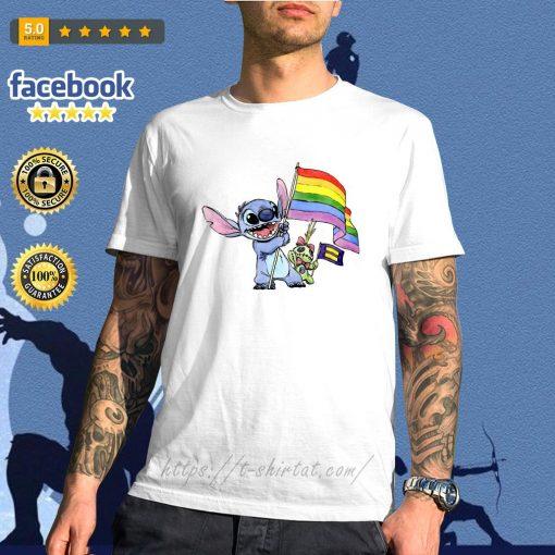 Stitch LGBT Pride flag shirt