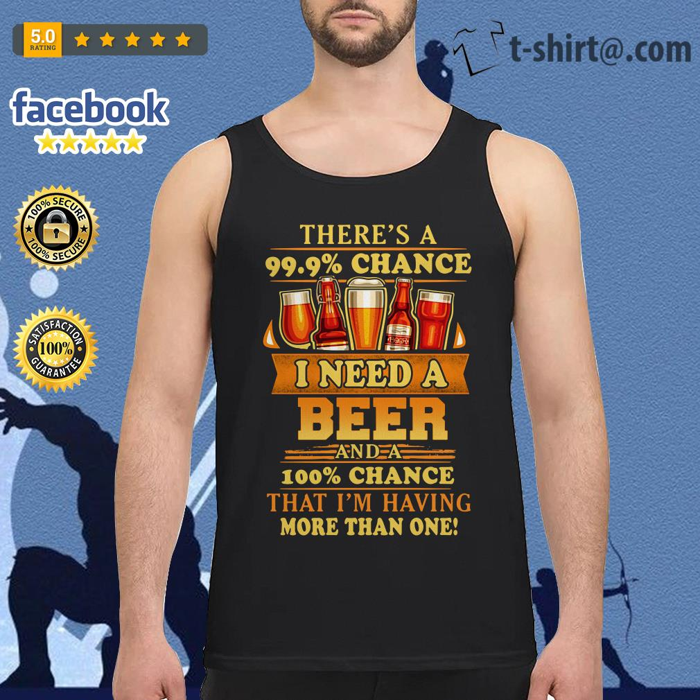 There's a 99.9% chance I need a beer and a 100% chance Tank top