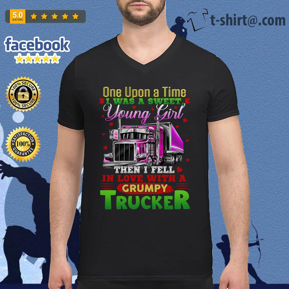 Truck one upon a time I was a sweet young girl then I fell in love V-neck t-shirt